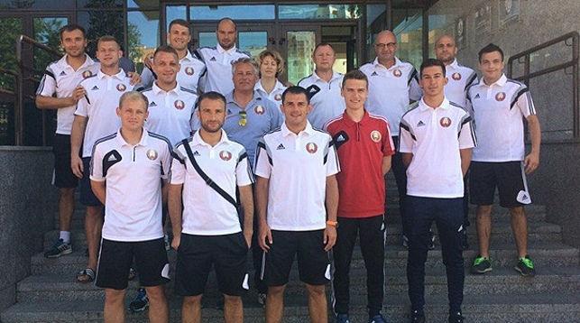 Белорусская сборная по пляжному футболу. Фото АФПФ