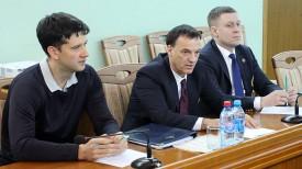 Стефан Фокс (в центре). Фото Министерства спорта и туризма Беларуси