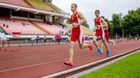 Во время соревнований по бегу