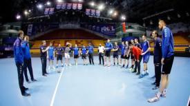 Гандболисты БГК проводят тренировку накануне финала четырех SEHA-лиги. Фото брестского клуба