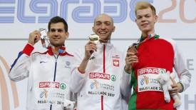 Робби Грабарж, Сильвестер Беднарек и Павел Селиверстов. Фото Синьхуа - БЕЛТА