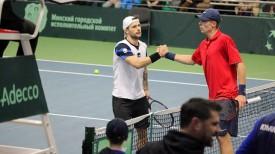 Адриан Унгур и Илья Ивашко. Фото Белорусской федерации тенниса