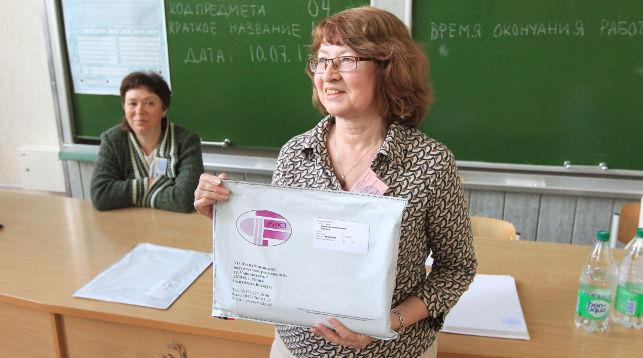 Централизованное тестирование в БГУ. Отвественный организатор Лидия Блинкова. Фото из архива
