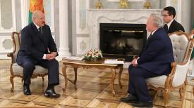Александр Лукашенко и Кент Харстед