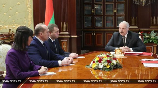 Александр Лукашенко во время назначения