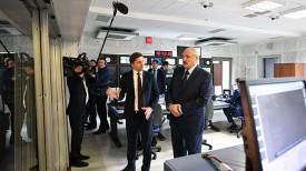 Александр Лукашенко во время посещения Белтелерадиокомпании