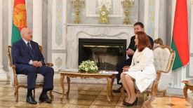 Александр Лукашенко и Мария Фернанда Эспиноса Гарсес