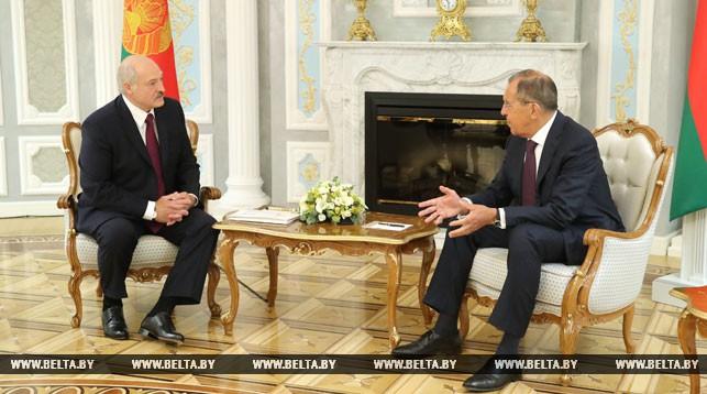 Александр Лукашенко и Сергей Лавров