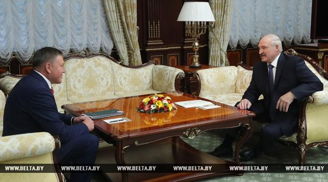 Олег Кувшинников и Александр Лукашенко