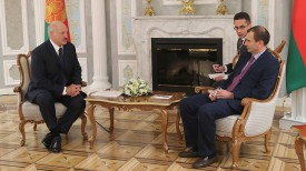 Александр Лукашенко и Алан Пию