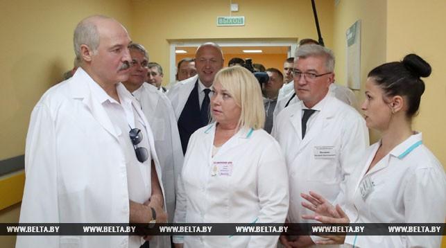 Во время посещения больницы