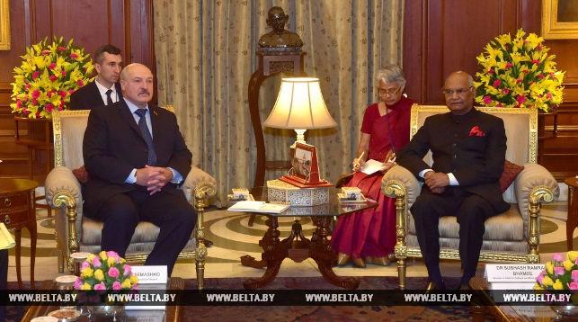 Александр Лукашенко и Рам Натх Ковинд. Фото из архива