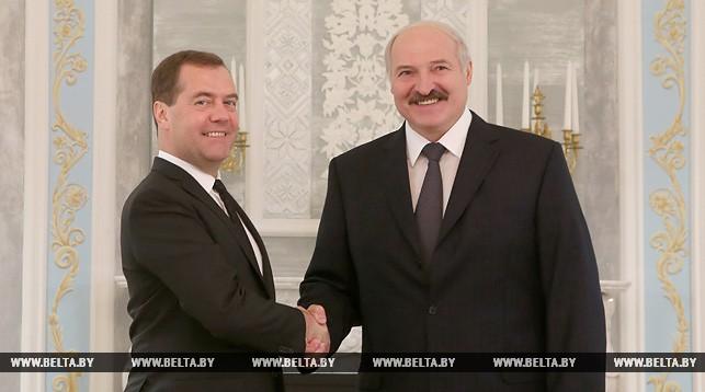 Дмитрий Медведев и Александр Лукашенко. Фото из архива