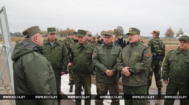 Александр Лукашенко на полигоне в Ивацевичском районе