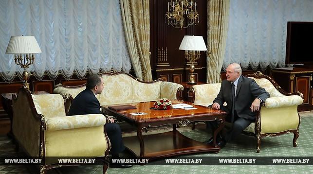 Михаил Бабич и Александр Лукашенко