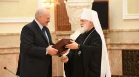 Президент Беларуси Александр Лукашенко и Митрополит Минский и Заславский Павел, Патриарший Экзарх всея Беларуси