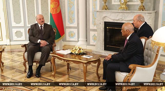Александр Лукашенко и Али Абдель Аль Сайед