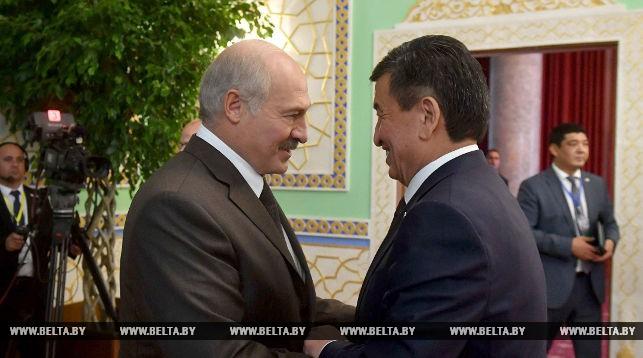 Александр Лукашенко и Сооронбай Жээнбеков. Фото из архива