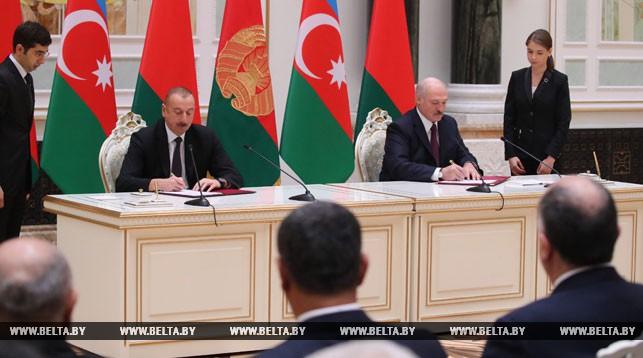 Ильхам Алиев и Александр Лукашенко