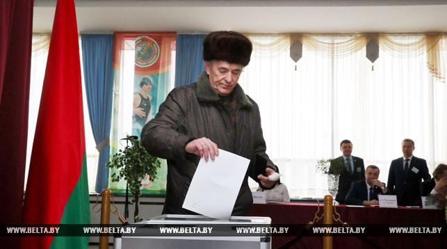 Во время голосования на участке №1 в Минске