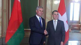 Владимир Андрейченко и Игнацио Кассис. Фото посольства Беларуси в Швейцарии