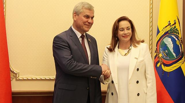 Владимир Андрейченко и Мария Фернанда Эспиноса Гарсес. Фото Палаты представителей