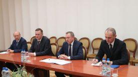 Владимир Макей во время встречи