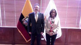 Игорь Полуян и Элизабет Кабесас. Фото посольства Беларуси в Эквадоре
