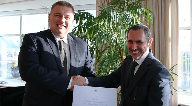 Олег Кравченко и Паулу Визеу Пинейру. Фото МИД