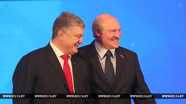 Петр Порошенко и Александр Лукашенко