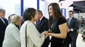 Посол Великобритании в Беларуси Фионна Гибб и Вера Полякова-Макей