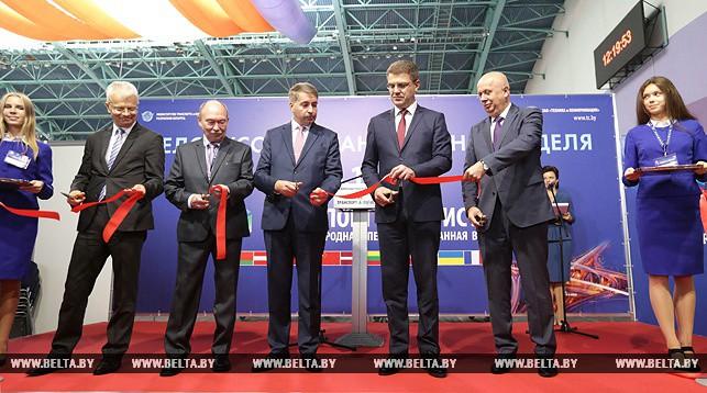 Во время открытия Белорусской транспортной недели
