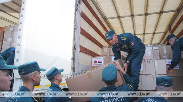 Погрузка гуманитарной помощи. Фото из архива