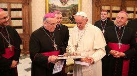 Тадеуш Кондрусевич с Папой Римским Франциском. Фото Белорусской редакции Ватиканского радио