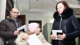 Семья Еремовых на участке для голосования №58 г. Могилева