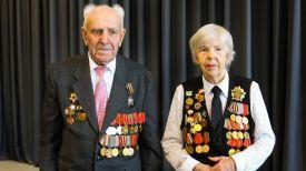 Ветераны, участвовавшие в сражениях за Сталинград, Петр Колпаков и Анна Воронова