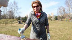 Марианна Щеткина во время работы в парке