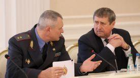 Министр внутренних дел Игорь Шуневич и вице-премьер Михаил Русый