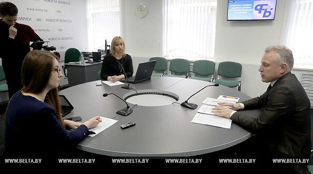 Михаил Орда на онлайн-конференции в пресс-центре БЕЛТА