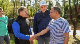 Губернатор Брестской области Анатолий Лис и Санака Самарасинха