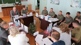 Во время встречи. Фото Министерства обороны
