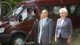 Посол Республики Корея в Беларуси Ким Ёнг Хо и министр труда и социальной защиты Ирина Костевич