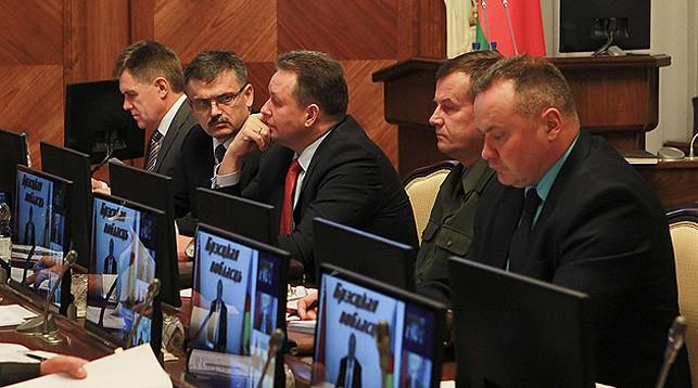 Во время заседания. Фото Совета Министров