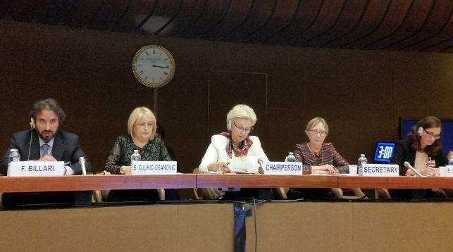 Ирина Костевич (в центре). Фото Представительства Беларуси в ООН