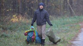 Во время уборки лесного массива в парке Мазурино в Витебске