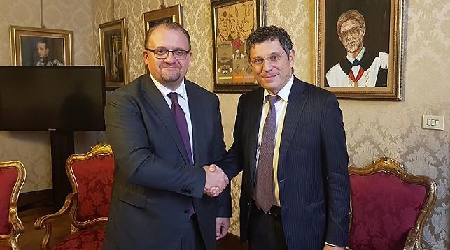Александр Гурьянов и Франческо Убертини. Фото посольства Беларуси в Италии