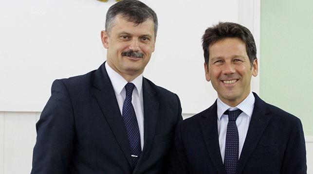 Сергей Ковальчук и Марио Джорджо Стефано Бальди. Фото Минспорта и туризма