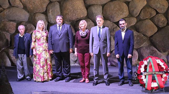 Во время церемонии. Фото посольства Беларуси в Израиле