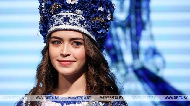 Мария Василевич в одном из конкурсных нарядов