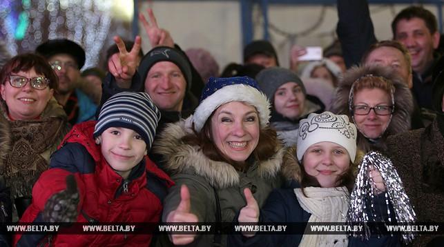 Новогодние гуляния в Минске